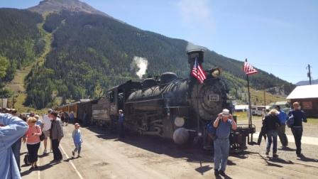Silverton-Durango Narrow Gauge Railroad flager for 9/11
